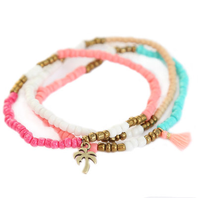 Bead bracelet set palm