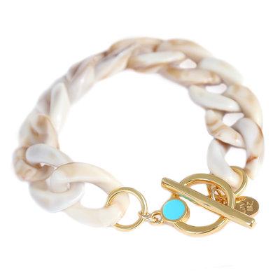 Armband chain beige melee