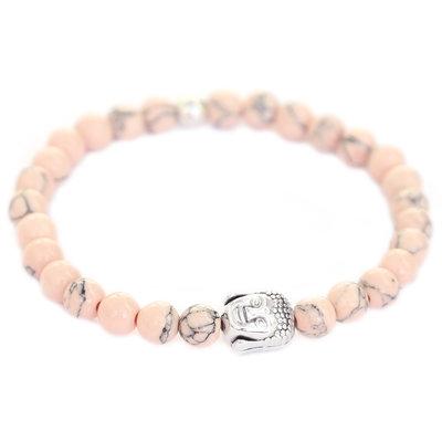 Buddha Armband rosa pale