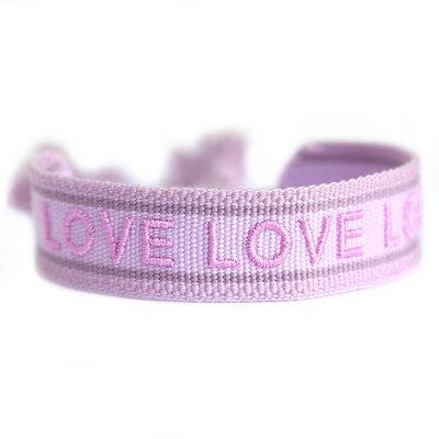 Gewebtes armband lilac LOVE