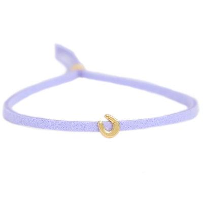 Armband for good luck - flieder gold