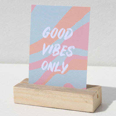 Card - Good vibes only pastel