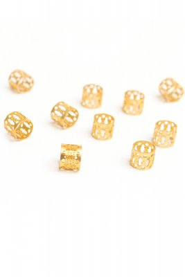 Hair jewel beads gold