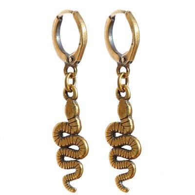 Ohhringe snake gold