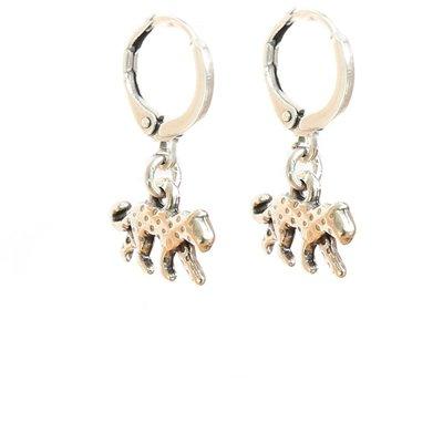 Ohhringe leopard silver