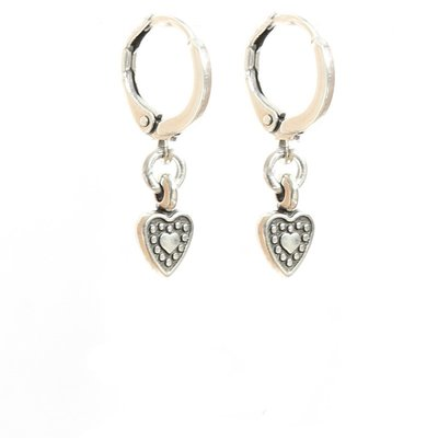 Ohhringe heart silver