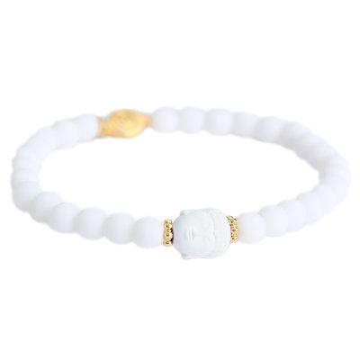 Armband buddha blanco