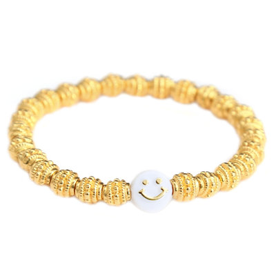 Armband golden smiley