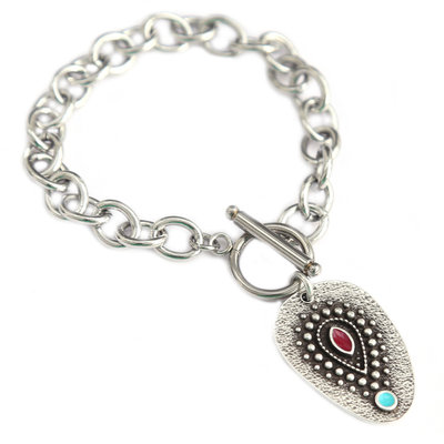 Armband amulet turquoise eye silver