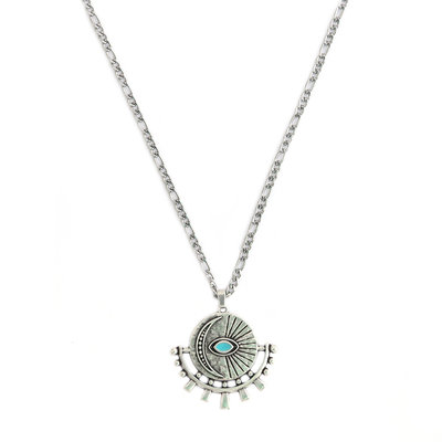 Kette amulet turquoise eye silver