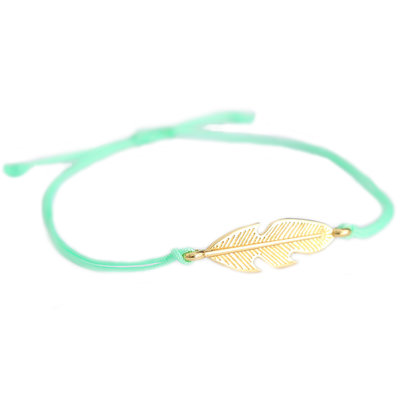 Armband feather mint green