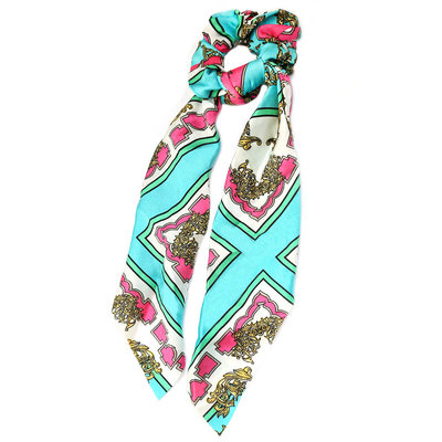 Scrunchie scarf baroque turquoise