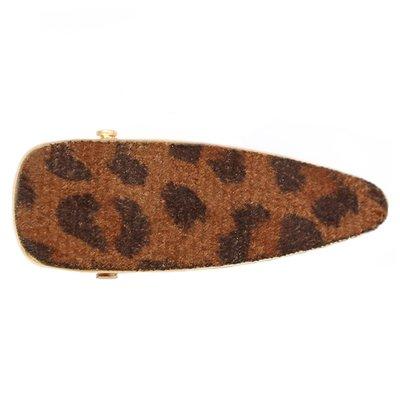 Statement haarspange velvet leopard brown