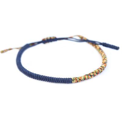 Buddhist armband blue multi