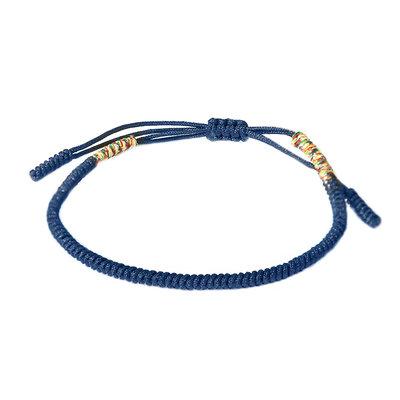 Buddhist armband blue