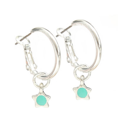 Ohrringe turquoise star silver