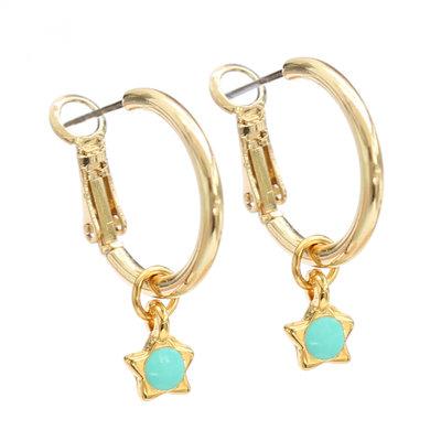 Ohrringe turquoise star gold