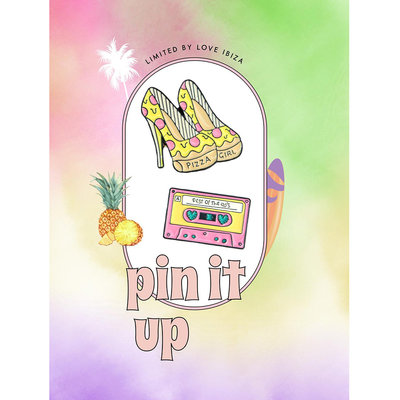 Pin it up emaille pins pizza girl