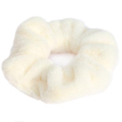Scrunchie teddy sahne