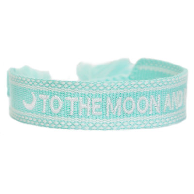 Gewebtes armband to the moon and back mint