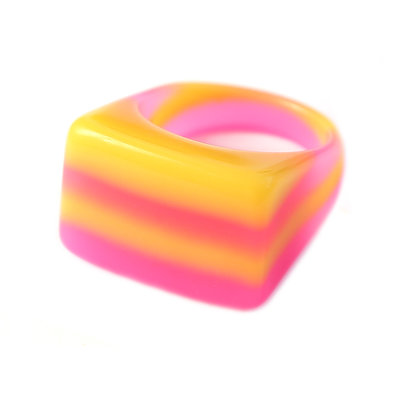 Ring candy love pink
