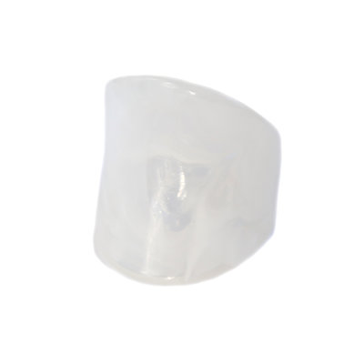 Ring white marble