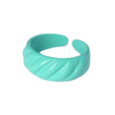 Ring baguette turquoise green