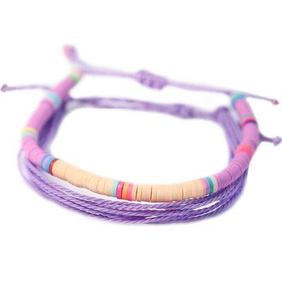 Set mit 2 Armbändern lila Surf