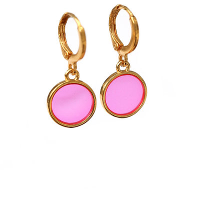 Ohrringe glass pink
