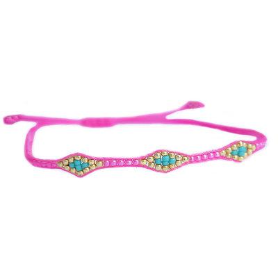 Armband miyuki Ibiza hot pink