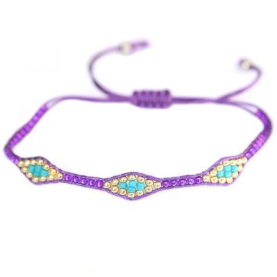 Armband miyuki Ibiza purple