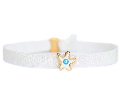 Fußketten white star turquoise eye