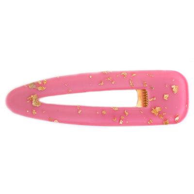 Statement haarspange hot pink gold flakes