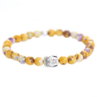 Buddha Armband yellow purple splash