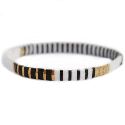 Oyster black white armband