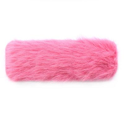 Haarspange fluffy pink