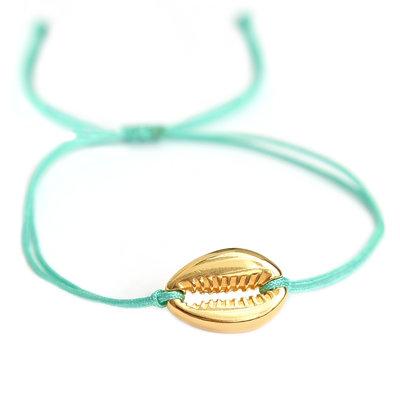 Armband türkis gold shell