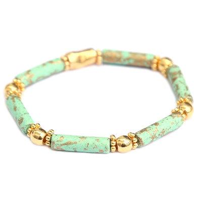 Armband Tuscany mint gold