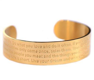 Motivation bracelet gold