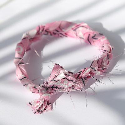 Armband bandana braid pink