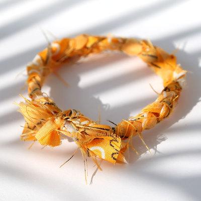 Armband bandana braid yellow
