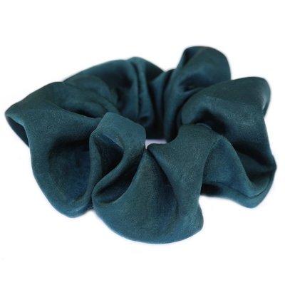 Scrunchie silk green/blue