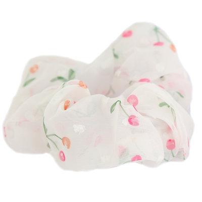 Scrunchie cherry white