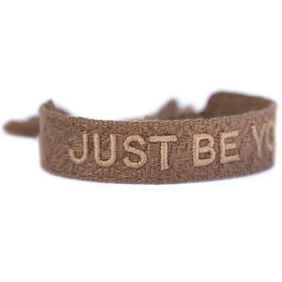 Gewebtes armband just be you taupe
