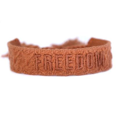 Gewebtes armband freedom copper
