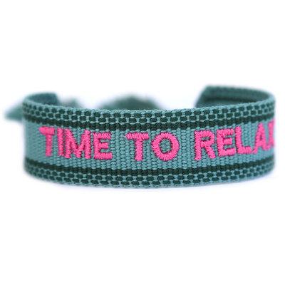 Gewebtes armband time to relax