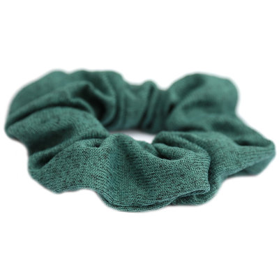 Scrunchie knitted green melee