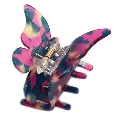 Haarspange butterfly purple flakes