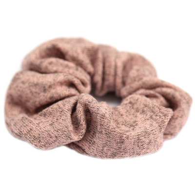 Scrunchie knitted rosa melee