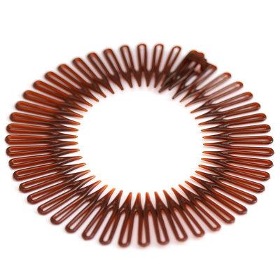 Zick-Zack-Haarband brown